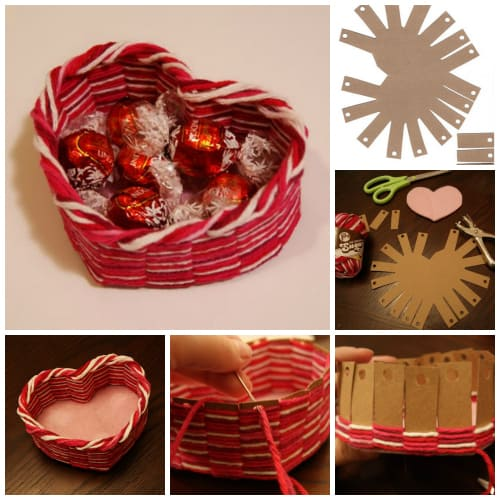 diy heart shaped basket