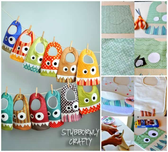 diy monster baby bibs