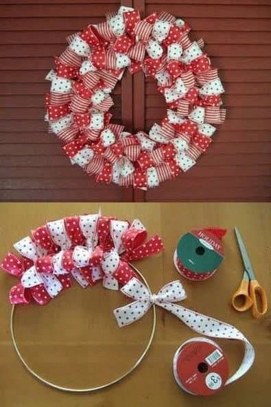 diy ribbon wreath