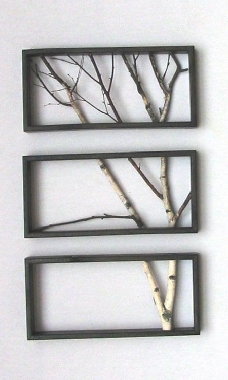 framed branches art