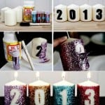glitter new years candles