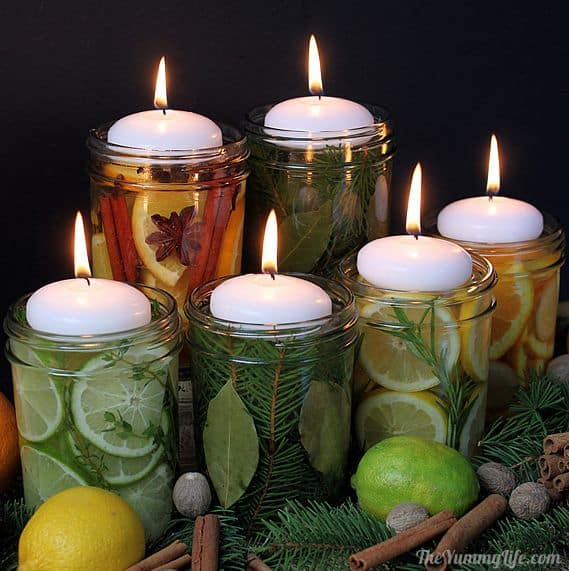 natural scent centerpieces and gifts