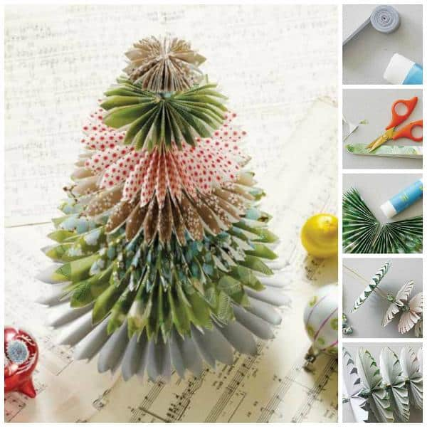 paper christmas tree tutorial - How To Make A Paper Christmas Tree