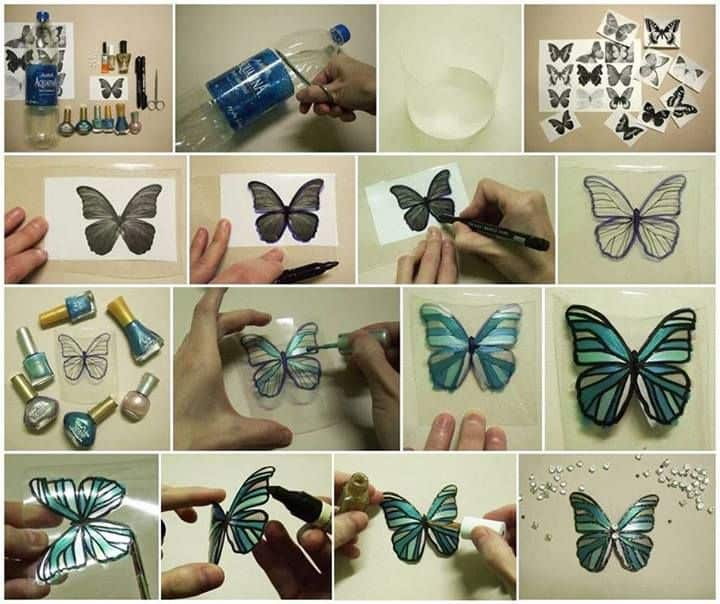 plastic bottles into butterflies craft diy cozy home