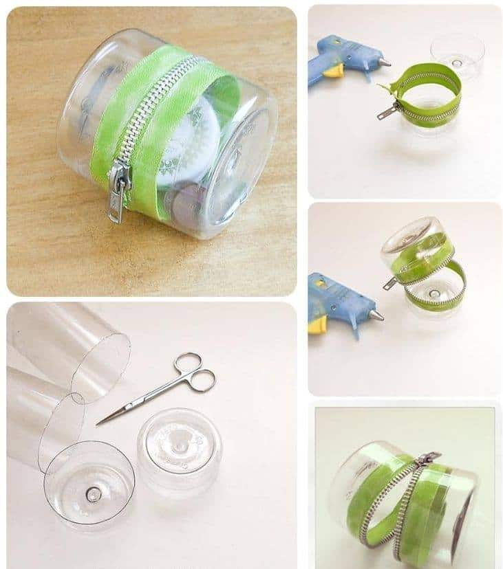 Plastic Bottles And Zipper Container Craft