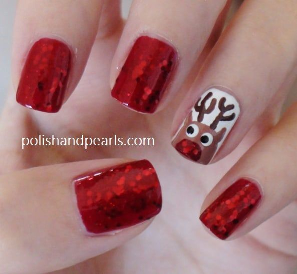 Halloween back from the grave nails diy cozy home rudolph nails tutorial solutioingenieria Image collections