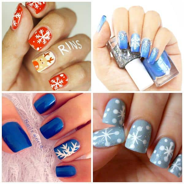 Must try nail art hacks you can easily do on yourself diy cozy home 4 cute snowflake nail tutorials manicure solutioingenieria Image collections