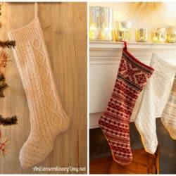 sweater into a stocking