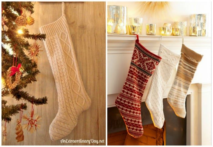 turn a sweater into a christmas stocking - Sweater Christmas Stockings