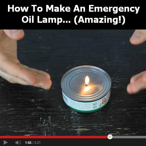 tuna can oil lamp diy