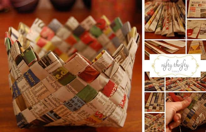 weave newspaper basket