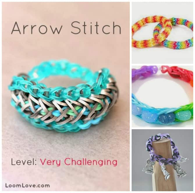 arrow stitch bracelet