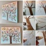 button tree canvas wall art