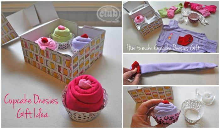 cupcake onesies baby shower gift  diy cozy home, Baby shower invitation