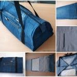 diy denim jeans into handbag