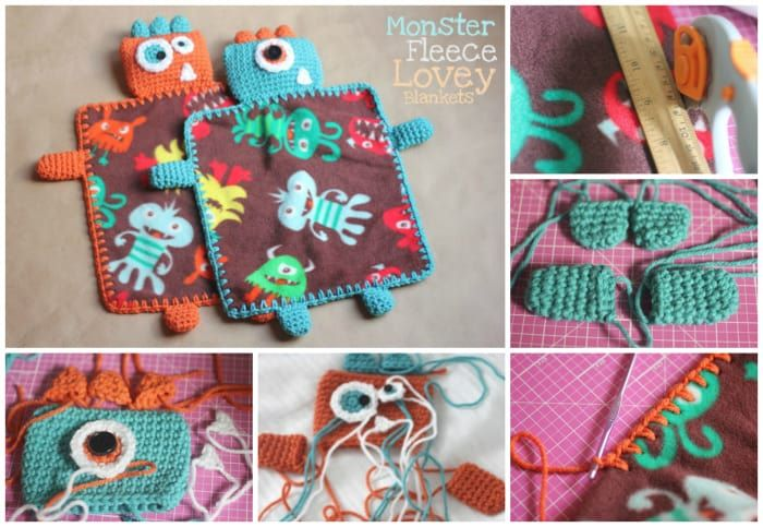 diy fleece monster blanket