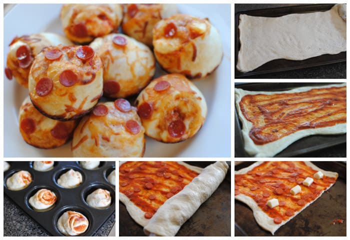 diy pizza muffins