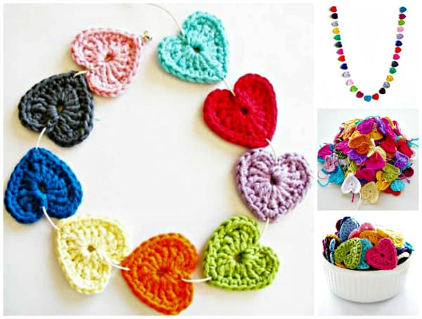 Free Crochet Patterns For The Home : Free Crochet Heart Pattern DIY Cozy Home