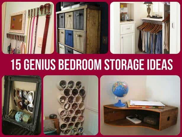storage ideas for bedrooms brilliantly clever bedroom storage hacks 17425