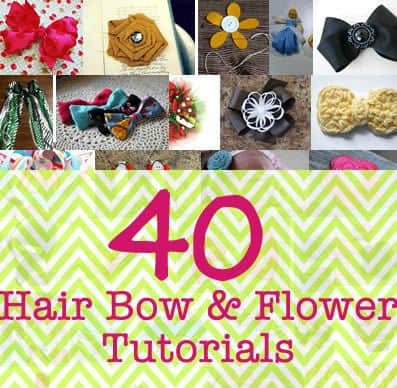 hair bow flower tutorials