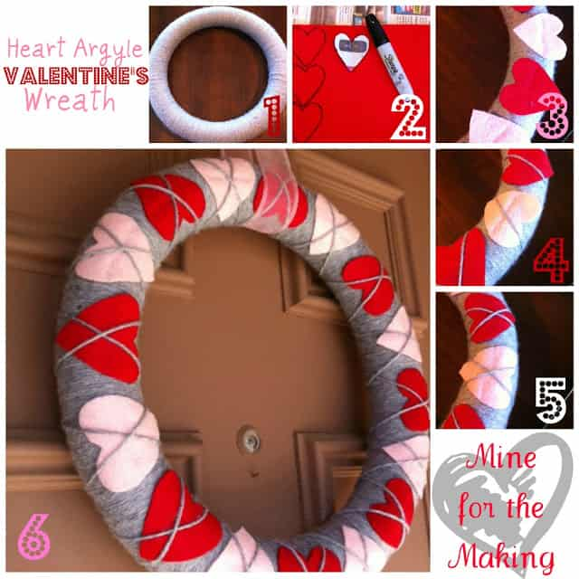 heart argyle wreath