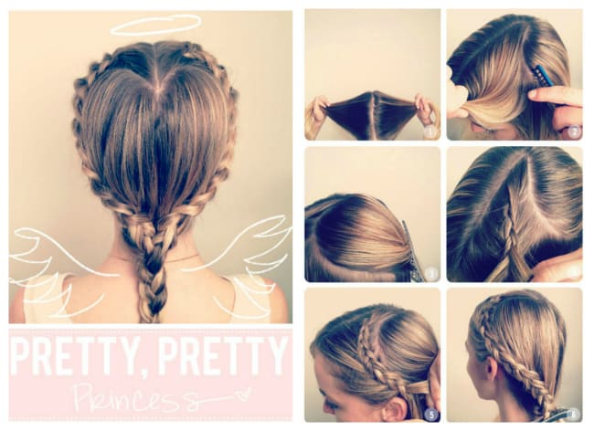 heart shaped braid tutorial