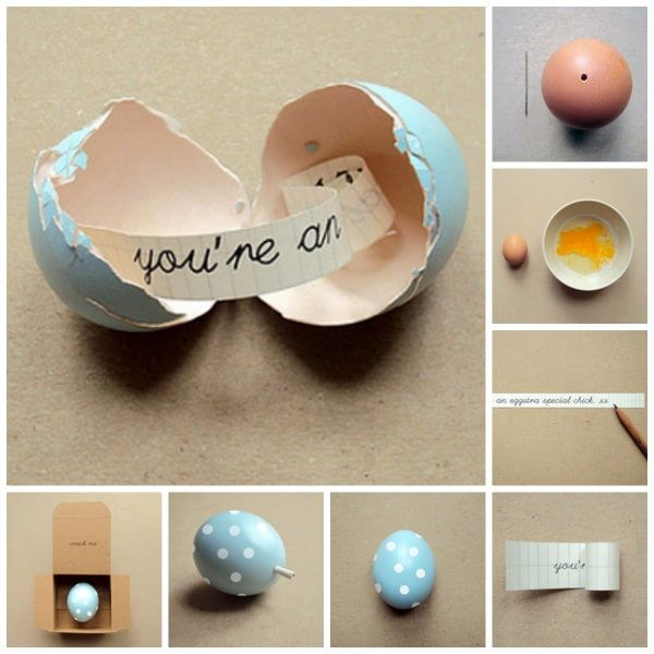 message inside an egg