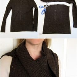 No-Sew Cowl Scarf From A Sweater