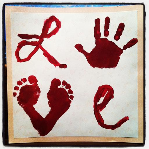valentines day hand print crafts