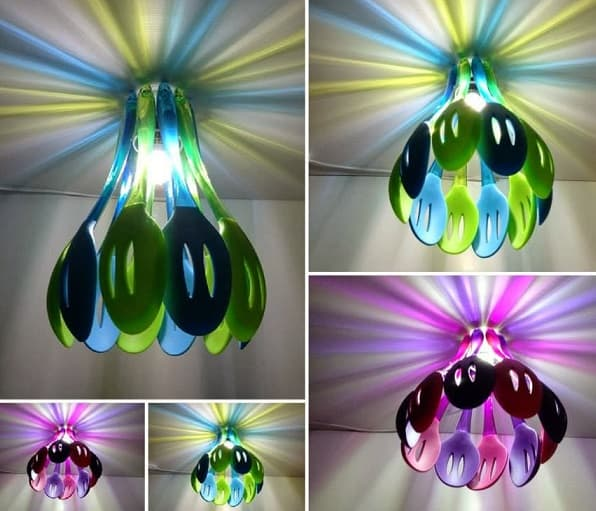 creative spoon chandelier