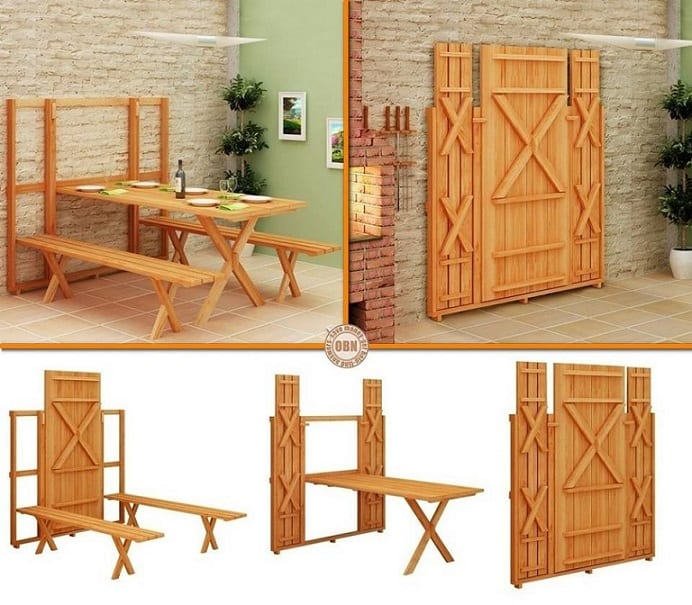 space saving fold down picnic table diy cozy home