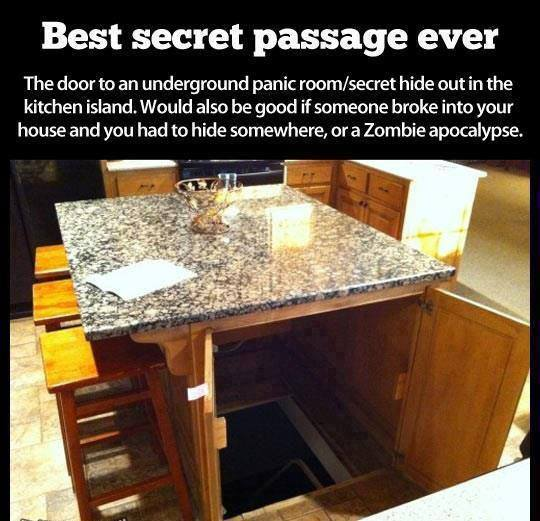 kitchen island secret room