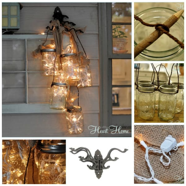 mason jar wall light