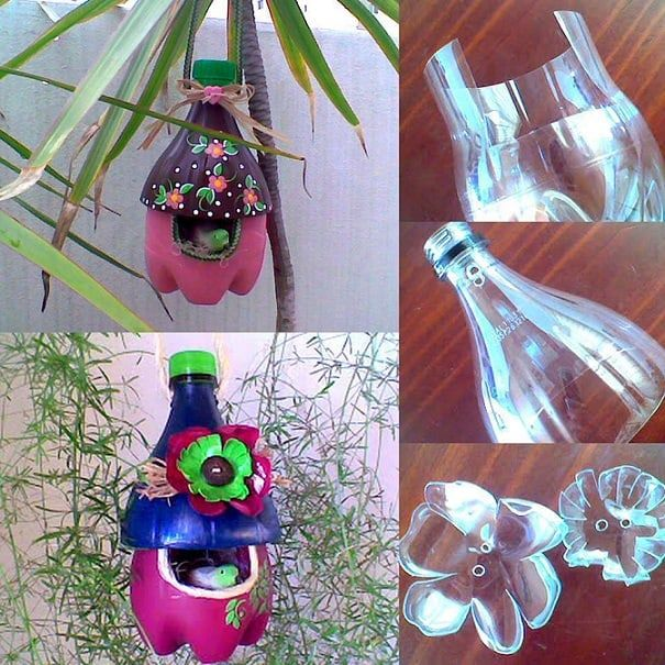 plastic bottle bird house