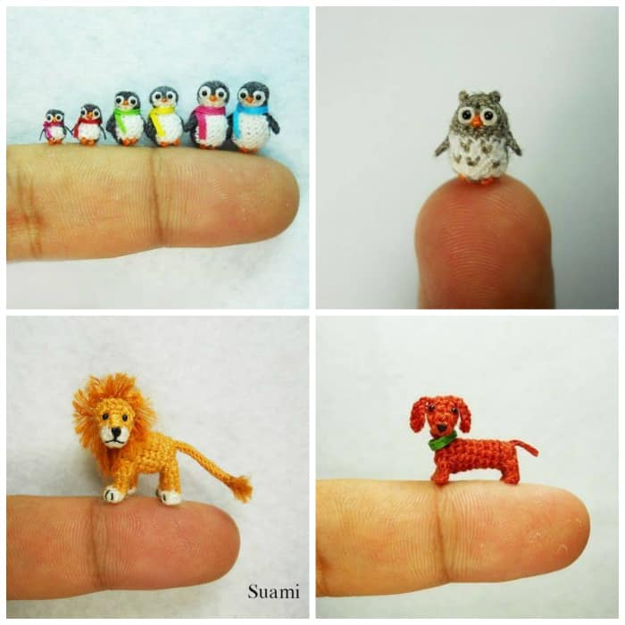 Miniature Crochet Animals Free Patterns