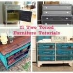 two toned furniture tutorials