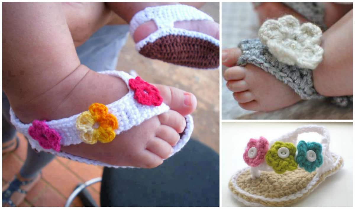 Adorable Crochet Baby Sandals (25 Free Patterns)