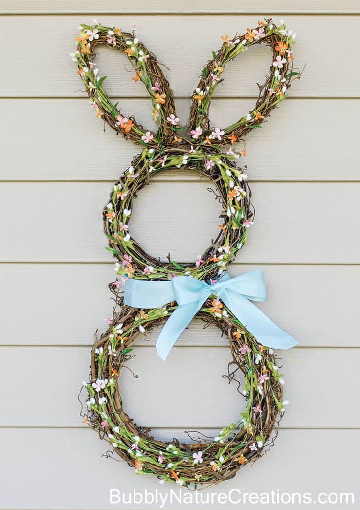 DIY Spring Bunny Wreath Tutorial
