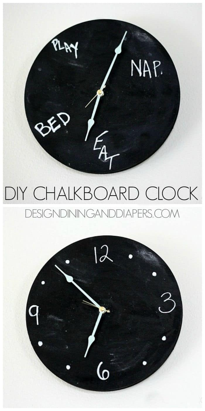 The Coolest Chalkboard Clock Ever