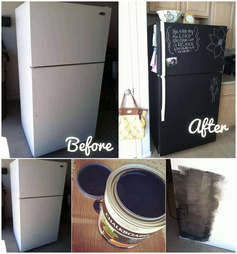 Chalkboard Fridge Painting