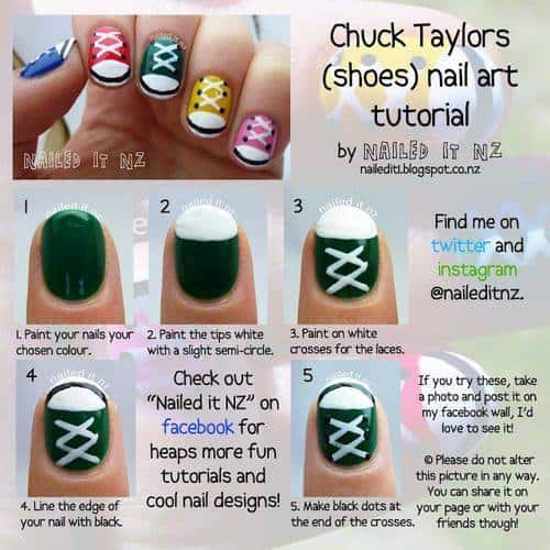 Chuck Taylor Nails Tutorial