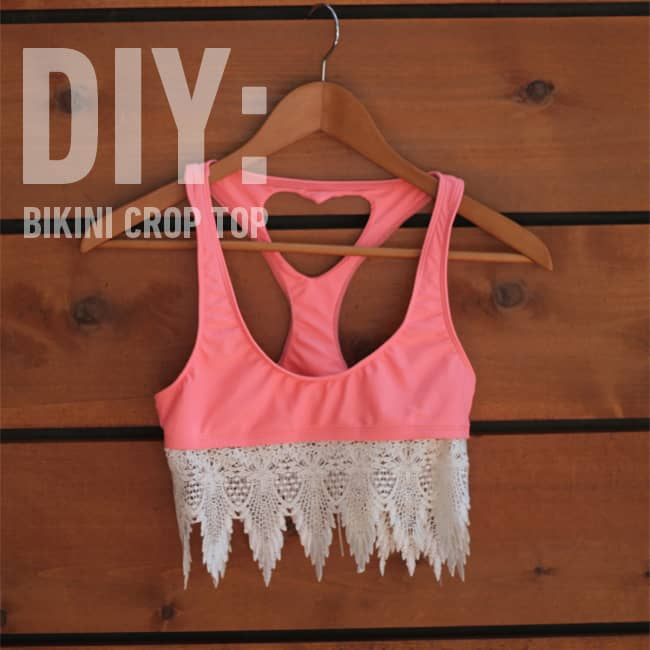 Turn A Bikini  Into A Crop Top
