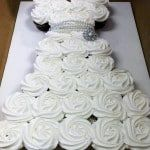 Wedding Dress Cupcake Cake Tutorial