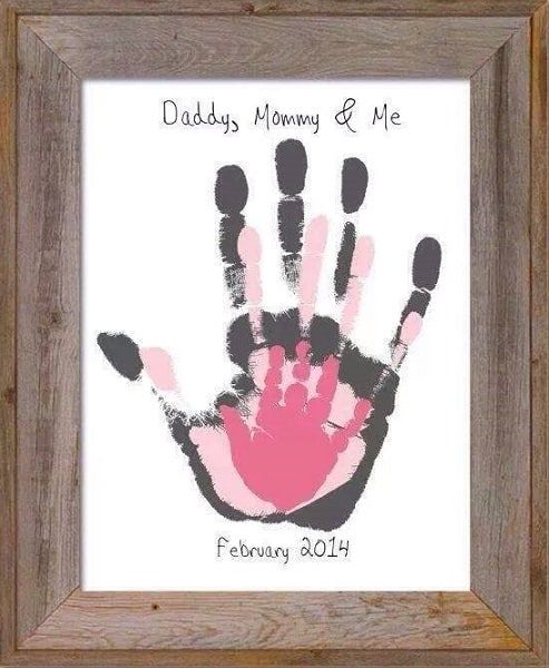 daddy mommy me hand print