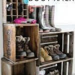 diy crate boot rack