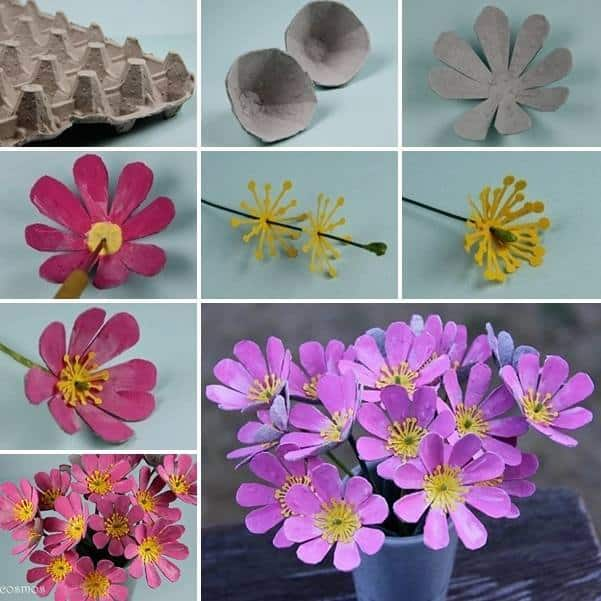 Extra Creative Egg Carton Flowers