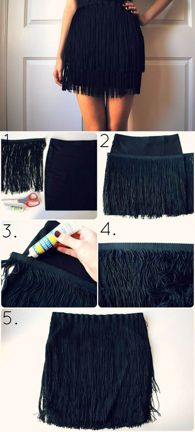 DIY 1920's Flapper Fringe Skirt