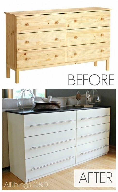 ikea kitchen side table hack