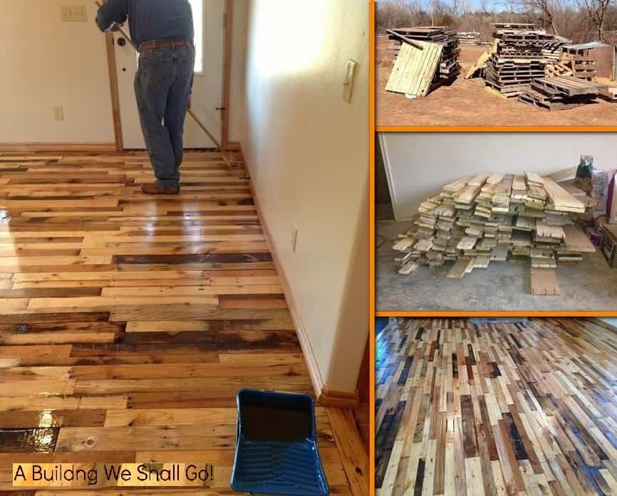 Pallets Are Easy To Come By And There Are So Many Tutorials And DIYu0027s To  Choose From. Wood Pallet Flooring From A Building We Shall Go Is ...
