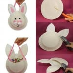 paper plate bunny bag